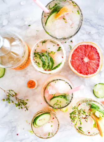 Apple Cider Vinegar and Grapefruit Detox Drink