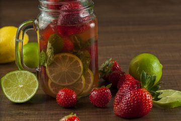 Lemon, Strawberry and Mint Detox Drink